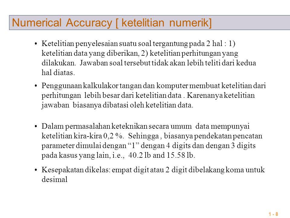 Numerical Accuracy [ ketelitian numerik]